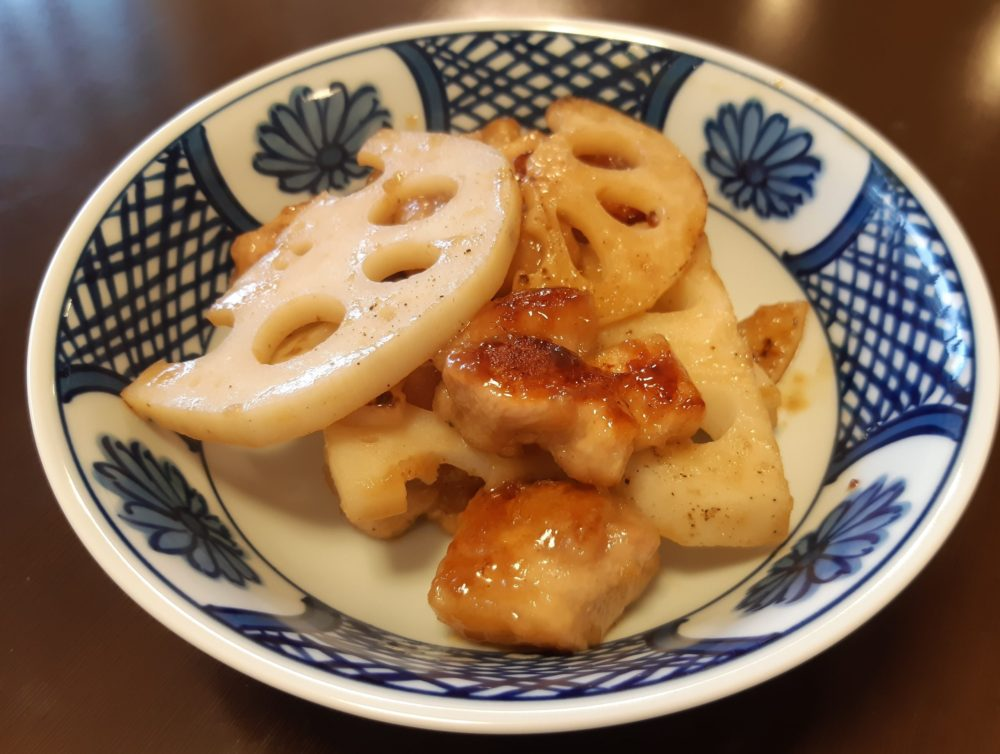 レンコンとチキンの炒め物